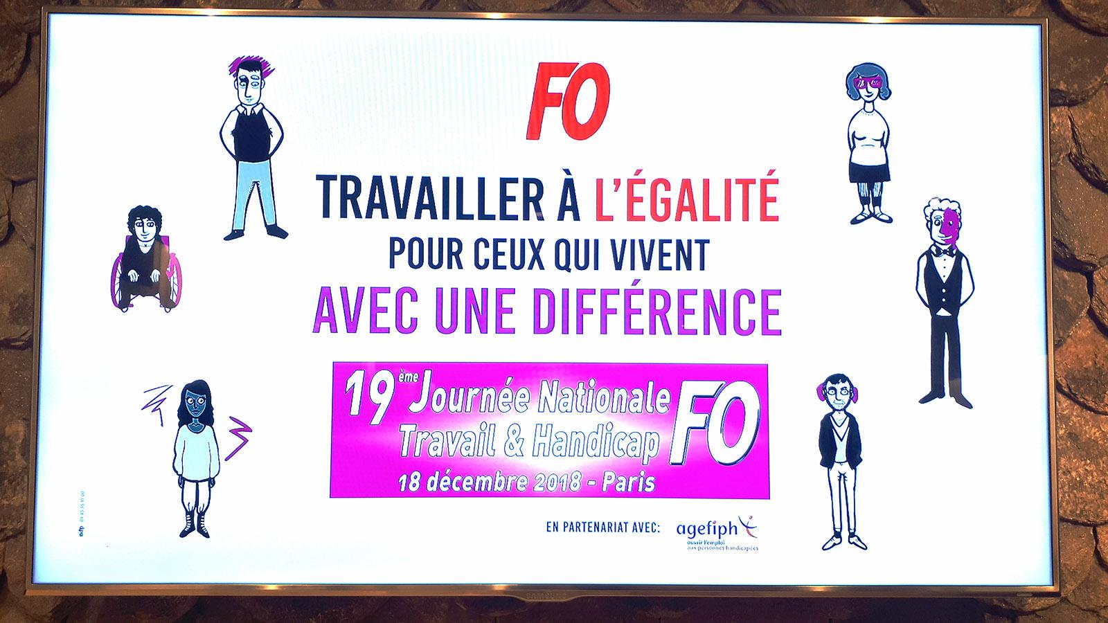 Journee Nationale Travail Et Handicap Le 18 Decembre 2018 Force